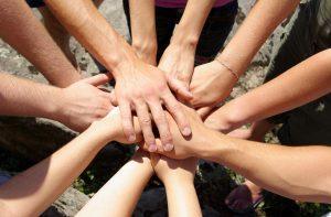 Team-hands